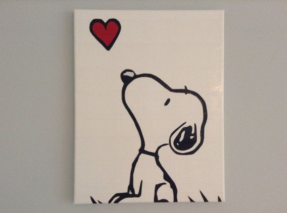 Items similar to Snoopy Duct Tape Painting 11 x 14: Made to Order on Etsy