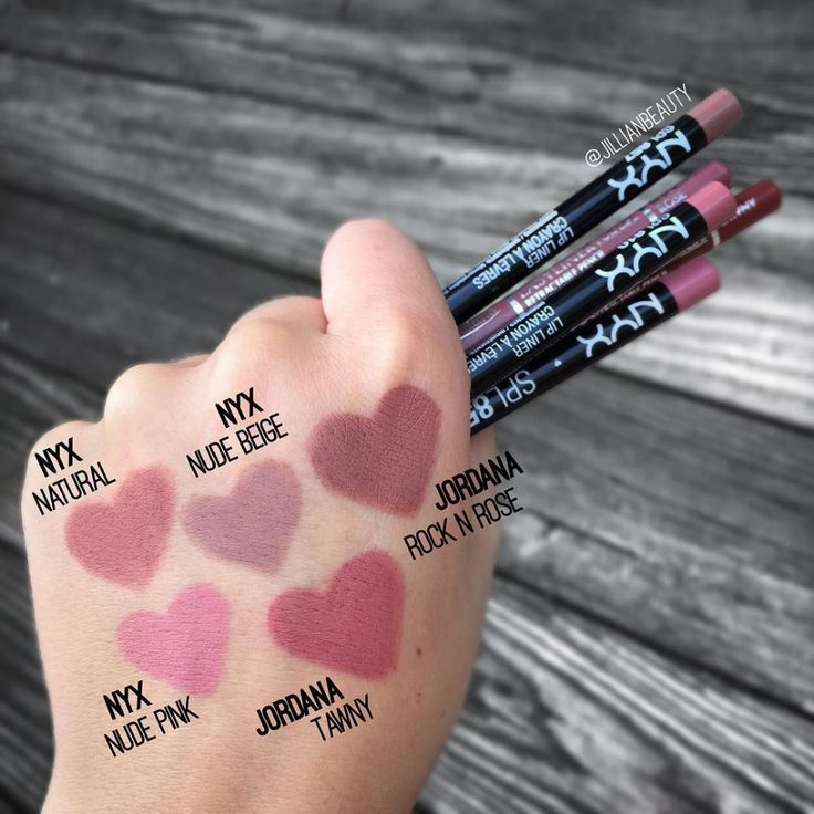 NYX Lip Liner Swatches by MakeupByLindsey on DeviantArt
