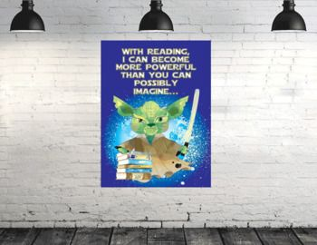 POSTER - Great decor for the school library and bookfairs! This purchase includes one JPEG/ PDF for the poster displayed. Please download the PREVIEW file prior to purchasing to review ALL available PRINTING OPTIONS for this purchase.