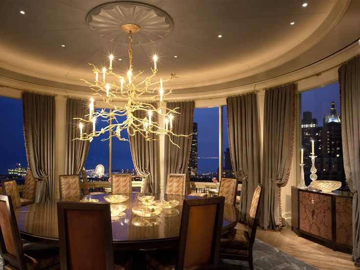 Dramatic Dining Room With In Lake Shore Penthouse Stunning Views Designed By Jessica Lagrange