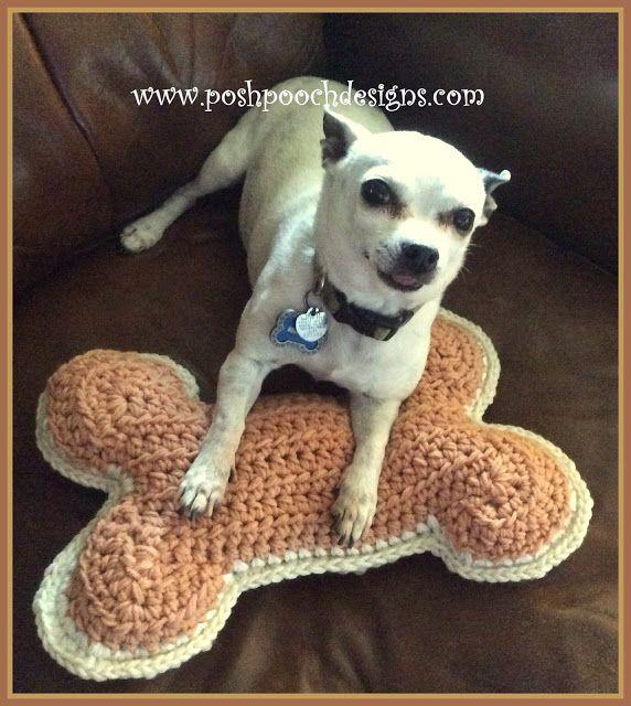 Crochet Dog Bone Pillow Posh Pooch Designs Crochet Dog Crochet Pillow Pattern Crochet Coasters Free Pattern