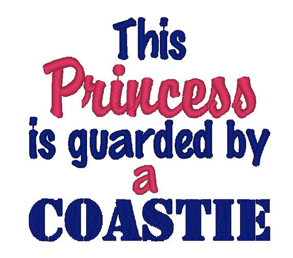 Instant Download: This Princess is Guarded by a Coastie or Solider Embroidery Design on Etsy, $3.25
