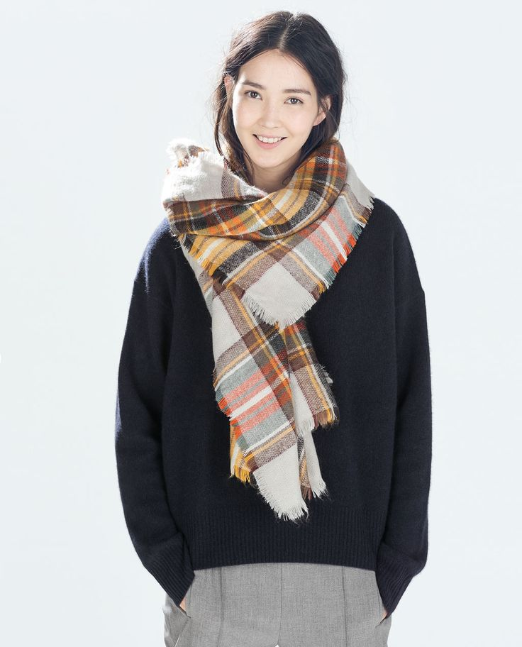 Shouldve bought in NY when I could. ... CHECKED SHAWL-Scarves-Accessories-WOMAN   ZARA United States