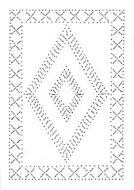 Diamond Punched Tin Pattern