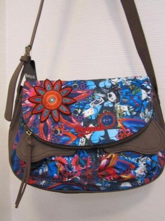 Desigual Authentic Bolso Brooklin Wonderland Hand Bag  #Desigual #Handbag