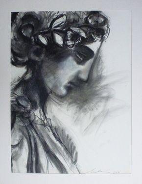 "Saatchi Art Artist melora walters; Drawing, ""Greek Girl II"" #art"