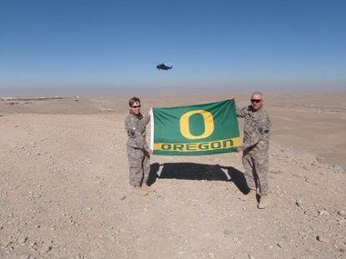 Oregon Ducks in Afghanistan #nationalbrand