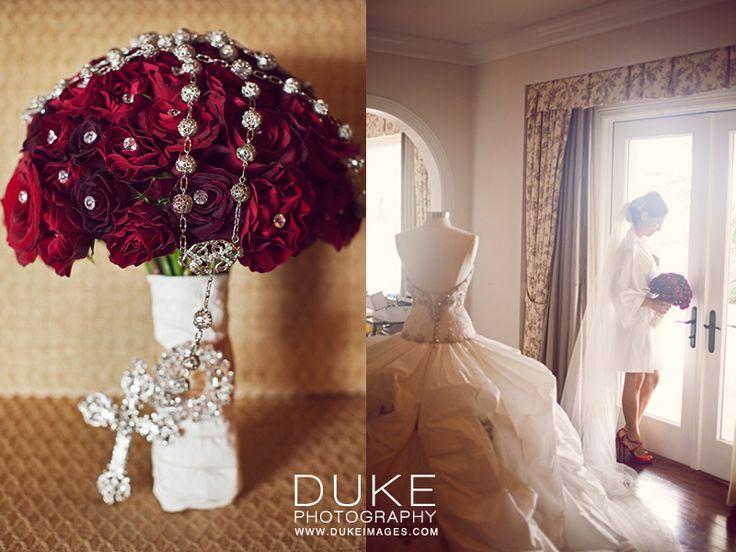 Rosary by @Maria Canavello Mrasek Elena Headpieces, from Lovella Bridal / photo by @Biancamaria Duke Photography