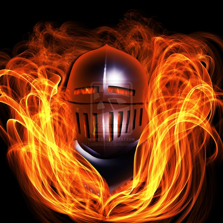 Fiery Knight by Lucana-Arts.deviantart.com on @DeviantArt