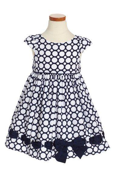 Biscotti 'Riviera' Dot Dress (Toddler Girls, Little Girls & Big Girls)