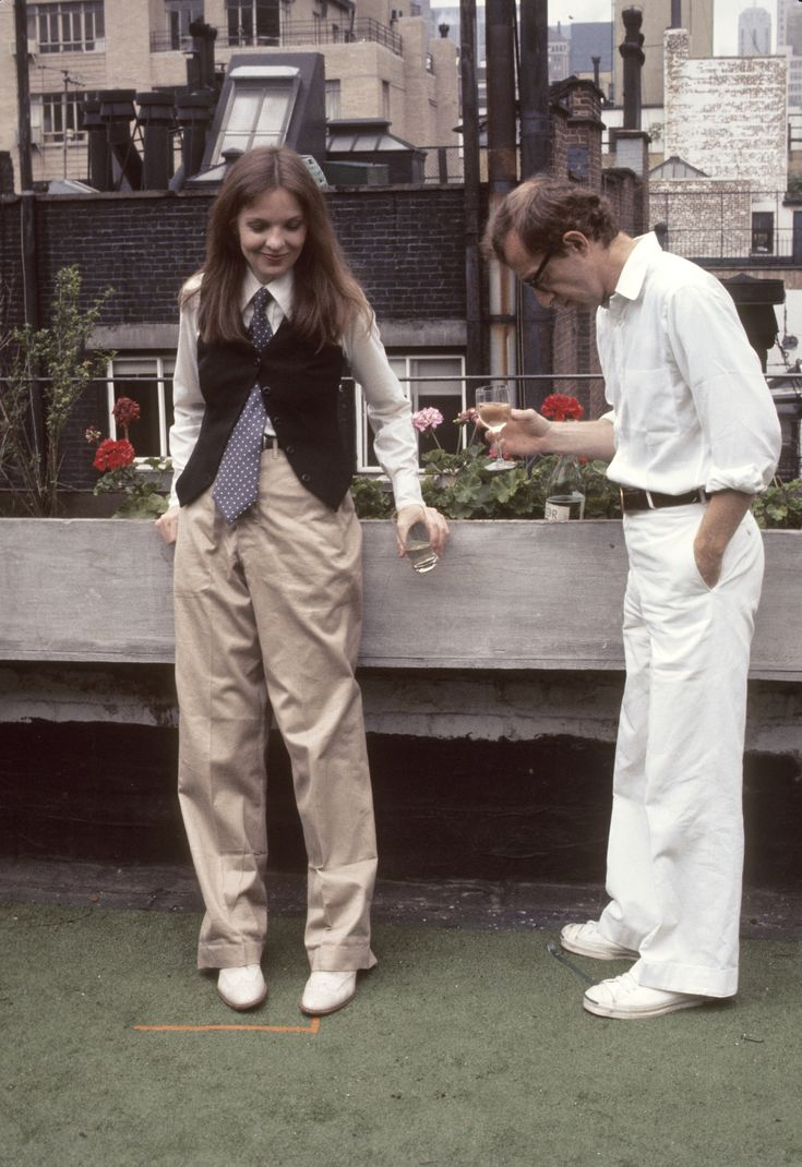 Diane Keaton & Woody Allen in Annie Hall (1977 Best Picture Oscar Winner--the year I was born). One of the best romantic movies EVER, even though I hate the ending!