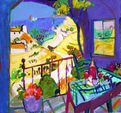 From the Balcony, Paintings by Manel Anoro Spanish Artist