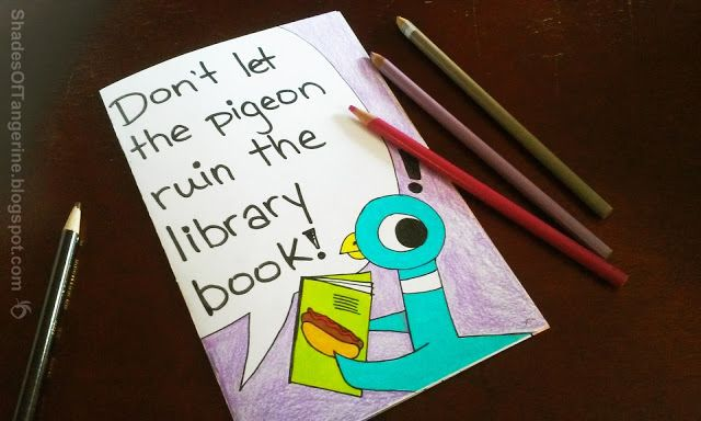 """""""Don't Let the Pigeon Ruin the Library Book"""" coloring book from Shades of Tangerine"""