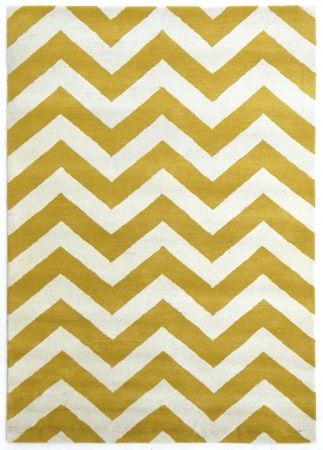 Golden apricot hand-tufted wool rug by Veeraa, $509.15. Visit hardtofind.com.au