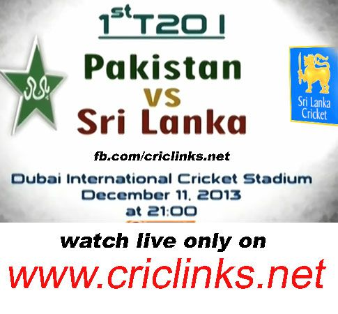 Wednesday 11th December,1st T20 between pakistan vs Sri Lanka will be played at Dubai.Sri Lanka and Pakistan will use their two-match series in Dubai starting on Wednesday to size each other up ahead of the World Twenty20 in three months' time. Pakistan, fourth in the Twenty20 rankings, Match will be start 9 PM PST.9.30 IST .watch live action only on http://www.criclinks.net/