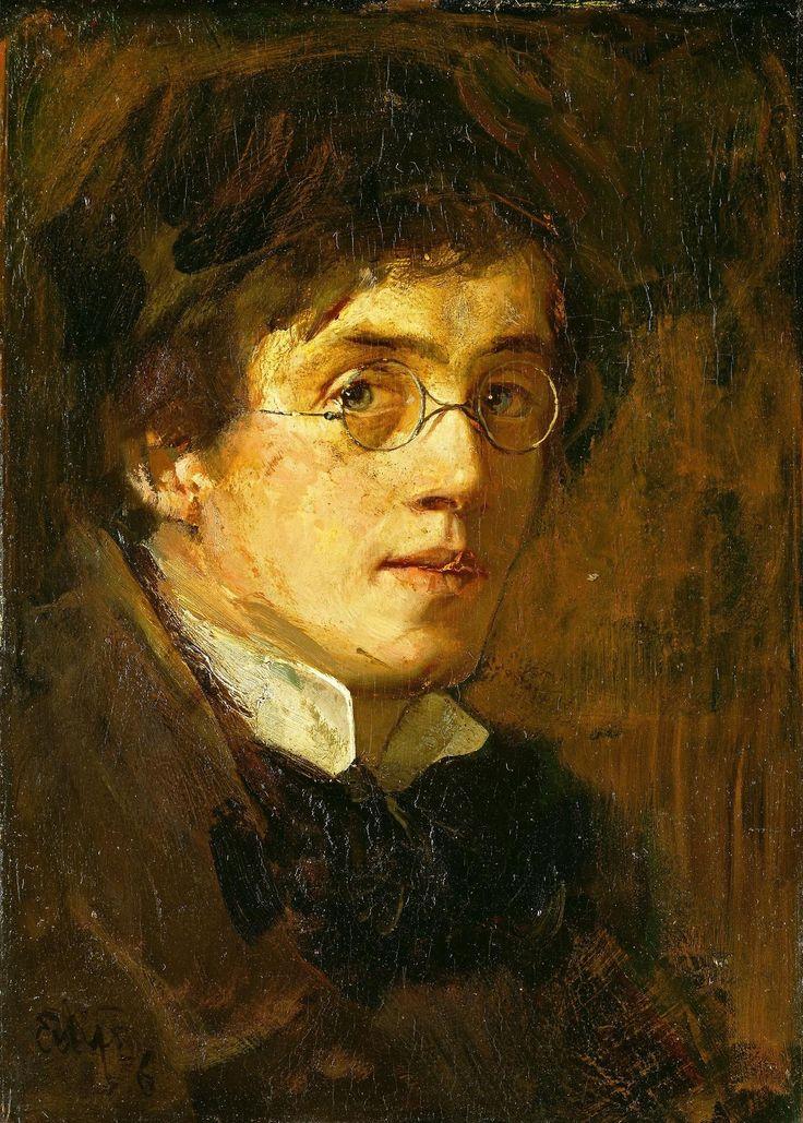 Eilif Peterssen - Self-Portrait - 1876: