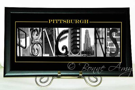 Pittsburgh Penguins Hockey Alphabet Photography  by BonneAmy, $60.00