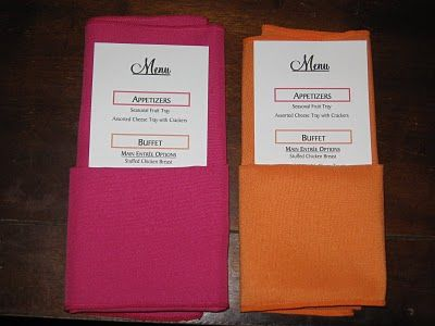 A how to for folding napkins to hold items.  (flowers, utensils, menu's, etc)