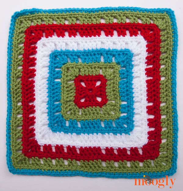 Crochet Stitches Moogly : Moogly CAL Block #19: free crochet pattern Crochet granny squares ...