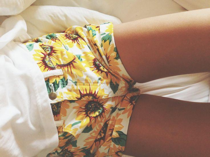Sunflower Shorts! Everyone loves them some sunflower shorts!