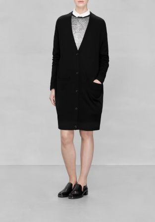 And Other Stories | Merino Wool Cardigan | Black