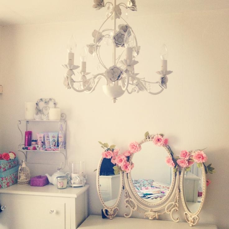 My shabby chic vintage bedroom. | Bedroom ideas
