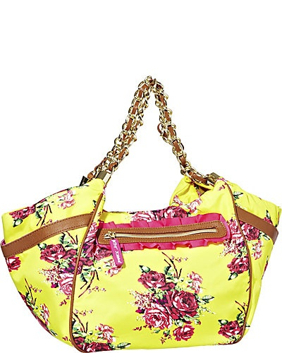 FLORAL EXPLOSION SATCHEL YELLOW