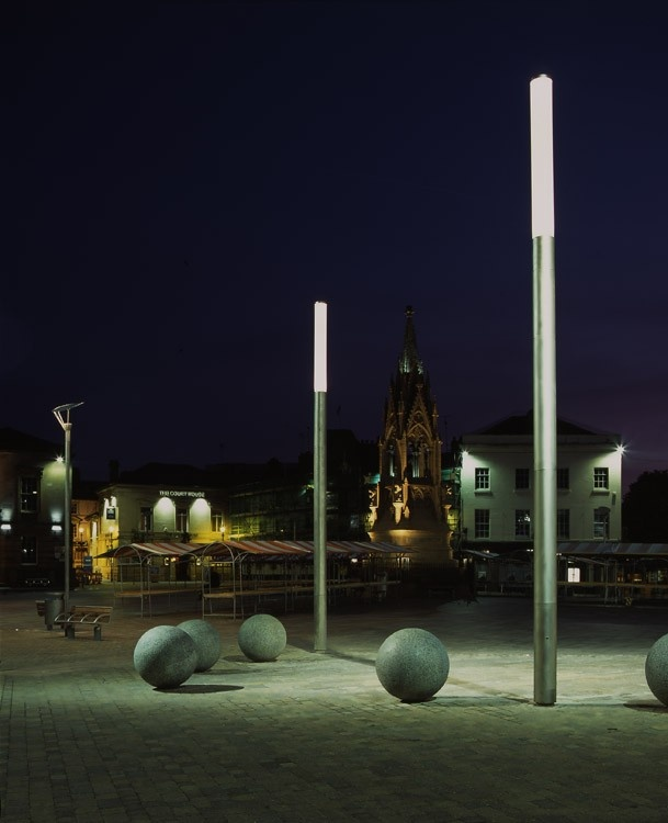 MANSFIELD TOWN CENTRE http://www.woodhouse.co.uk/mansfield-town-centre.html identity and a large #publicrealm redevelopment with #lighting and #streetfurniture.