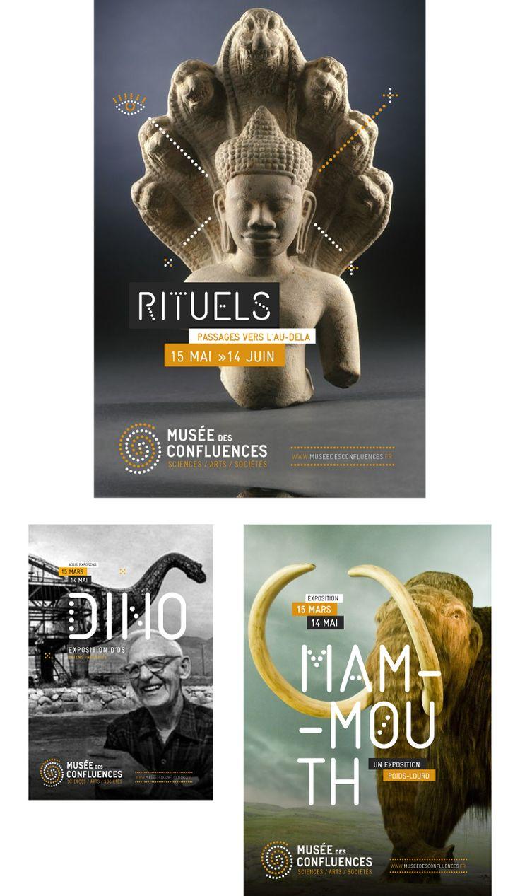Identité visuelle globale musée des confluences.  Brand design