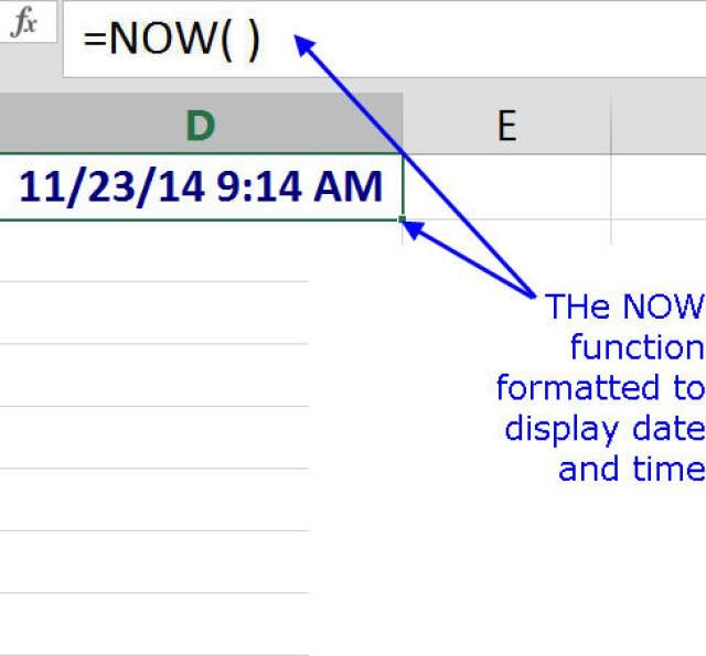 Excel today's date formula