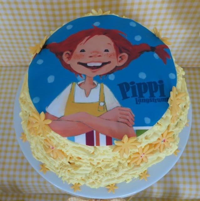 Cake Birthday Yellow Pippi Langstrumpf Amarelo Torta Aniversario