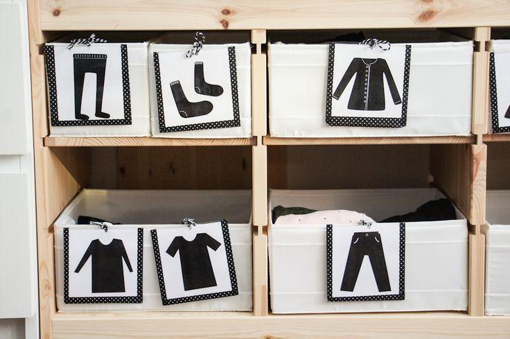 Freebie // Montessori Kleidungskärtchen für Kinder