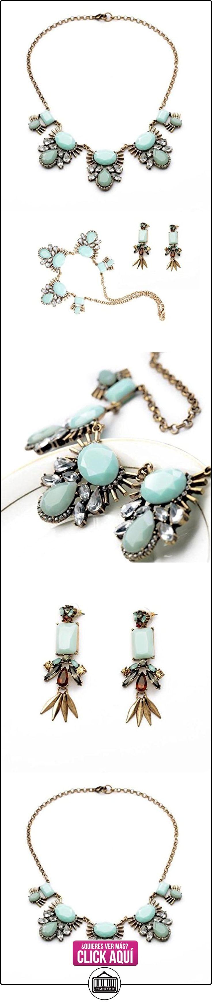Collar gargantilla ajustada, color verde menta, conjunto de joyería de moda para mujer  ✿ Joyas para mujer - Las mejores ofertas ✿ ▬► Ver oferta: https://comprar.io/goto/B01ANDRUXI