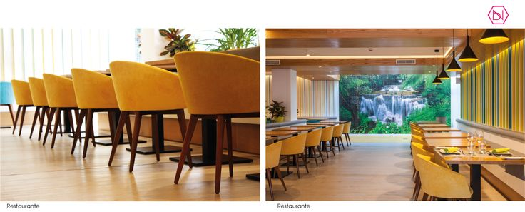 Restaurante Hotel Vanilla Garden. Tenerife. Restaurant Vanilla Garden Hotel. Tenerife. www.bn-arquitecto... #restaurant #iluminacion #osbwall #interiordesign #midcentury #hotel #refurbishment #furniture