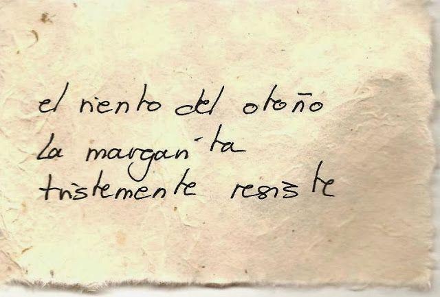Haiku en español: El viento del otoño...