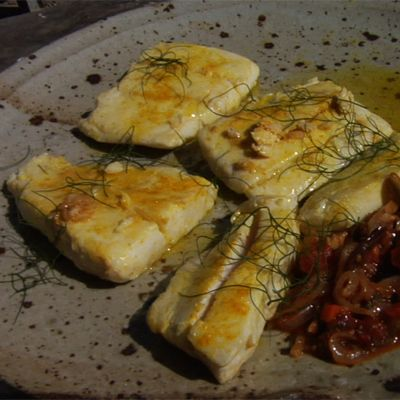 Butter and Olive Oil-Basted California Halibut