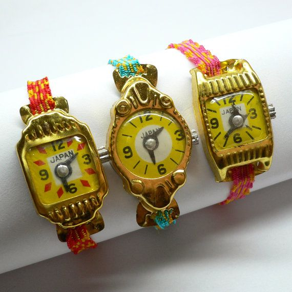1pc TIN TOY WATCH 1950s Vintage Japan. via Etsy....these are so cute