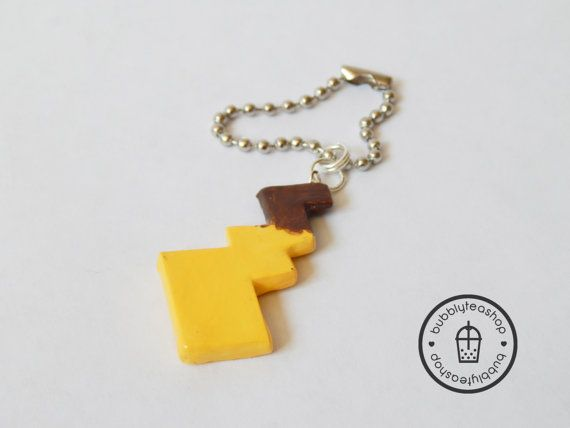 Pikachu Tail Charm  Pikachu Tail Necklace  by BubblyTeaShop