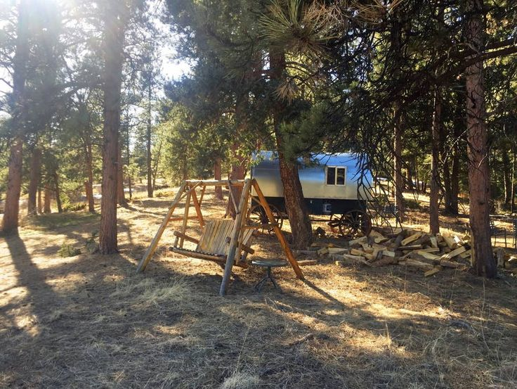 Chalet in Evergreen, United States. Yes, you are seeing this correctly.  We are letting people enjoy Gary, our custom built sheep wagon!  Million…