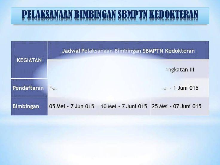 Bimbingan SBMPTN Kedokteran Program Jaminan di Indonesia College Jogja Start 05 Mei, 10 Mei, 25 Mei 0152015