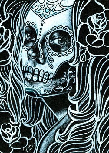 Day of the dead art #skull #skulls