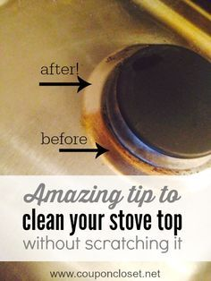 how to clean stove top