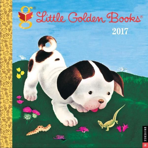 Do you remember Little Golden Books? Little Golden Books 2017 Wall Calendar features art from the series most popular books, including The Poky Little Puppy, The Saggy Baggy Elephant, The Shy Little Kitten, and Tawny Scrawny Lion.