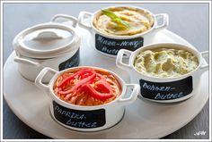 Aроматизированные сливочные маслa: с зеленой фасолью, со сладким перцем и с мятой, лаймом и медом.