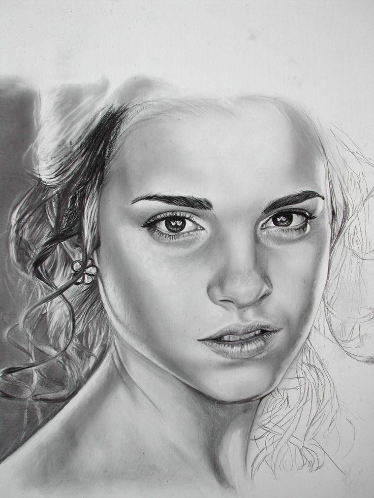 Drawings in pencil of people