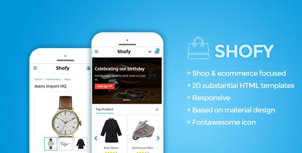 awesome Shofy - Mobile Shop Template (Mobile)