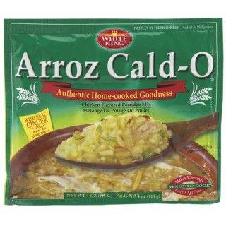 #Arroz #Cald-O #Kip #Rijstsoepmix #Arroz #caldo is een hartige Filipijnse rijstebrij met kip en zeer geliefd als ontbijt. Qua smaak doet arroz caldo denken aan het Chinese congee. Deze mix bevat naast rijst ook geselecteerde kruiden en kippoeder. Meng White King Arroz Cald-O Kip Rijstsoepmix met water en serveer deze Filipijnse lekkernij met reepjes kip, tofu en gekookte eieren.  https://www.asianfoodlovers.nl/producten/desserts/arroz-cald-o-kip-rijstsoepmix-113-gram
