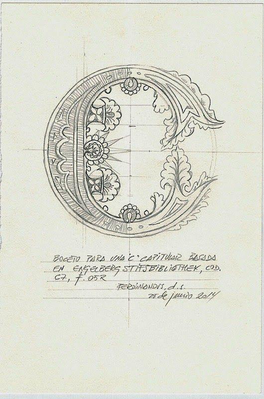 C inicial basada en  Engelberg Stiftsbibliothek Co. 67 f.