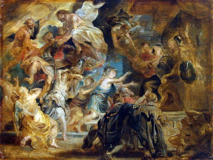 Питер Пауль Рубенс. Смерть Генриха IV и объявление регентства (Эрмитаж, С.-Петербург)