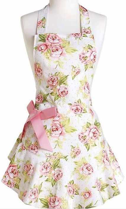 Pink Cottage Rose Apron ♥ L.O.V.E. So Pretty!
